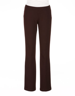 Eileen Fisher Zip Pocket Leather Trim Pant