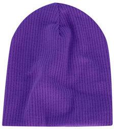 Topshop Purple Skater Rib Beanie