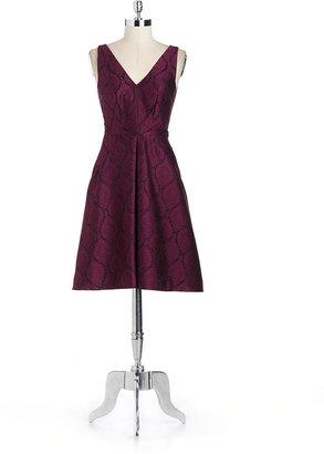 Yoana Baraschi YOANA BY Jacquard Fit-And-Flare Dress