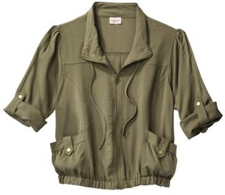 Mossimo Juniors Rolled Sleeve Challis Jacket - Assorted Colors