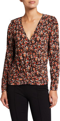 Ramy Brook Ivanna Floral-Print Long-Sleeve Top