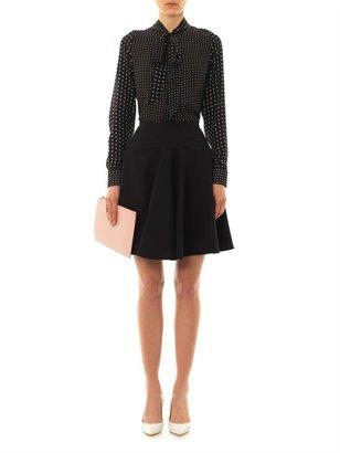 Emilio De La Morena Carla textured-cotton skater skirt