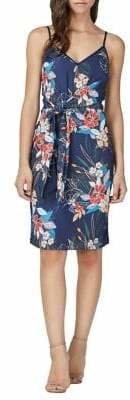 Adelyn Rae Stevie Woven Tie Slip Dress