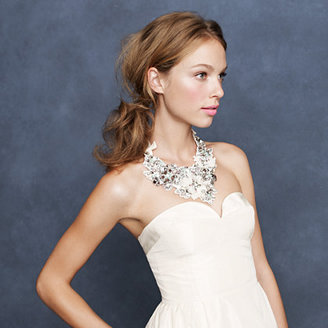 J.Crew Crystal embroidered bib necklace
