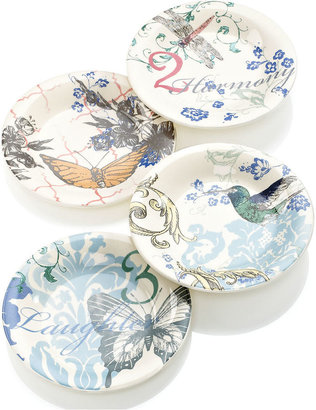 Lenox CLOSEOUT! Dinnerware, Set of 4 Collage by Alice Drew Dessert Plates