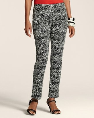 Chico's Graphic Print Side-Zip Ankle Pant