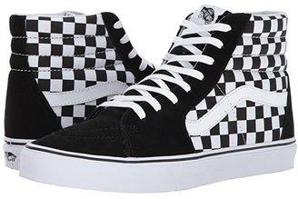 Vans SK8-Hi ((Checkerboard) Black/True White 1) Skate Shoes