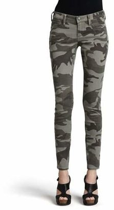 True Religion Casey Stretch Camo Low-Rise Super Skinny Pants $178 thestylecure.com