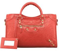 Balenciaga Giant 12 Golden City Bag, Coral