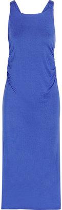 LnA Croatia ruched jersey maxi dress