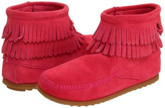 Minnetonka Kids - Side Zip Double Fringe Girls Shoes