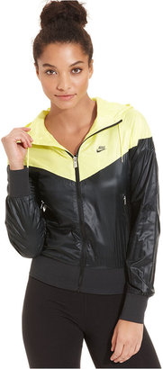 Nike Jacket, Windrunner Colorblock Hooded Windbreaker