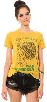 Obey The War is Murder Tee in Yellow