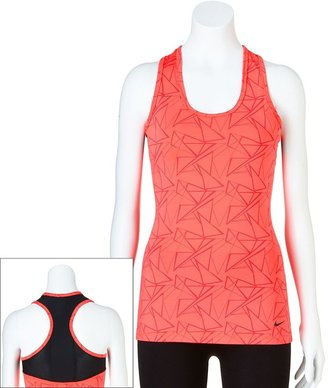 Nike dri-fit printed racerback running tank - women's