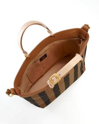 Fendi Pequin Shoulder Strap Tote Bag, Vachetta