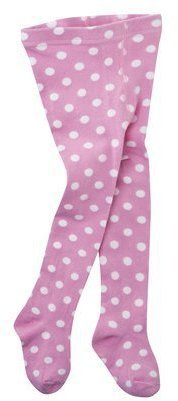 Luvable Friends Infant Toddler Girls' Cotton Dot Tights - Medium Pink