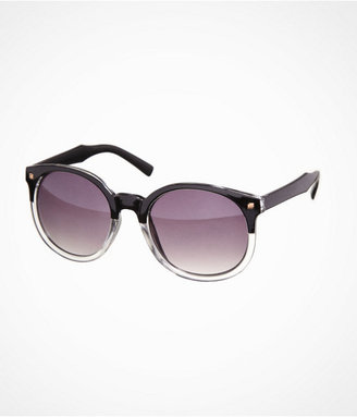 Express Oversized Two Tone Round Sunglasses