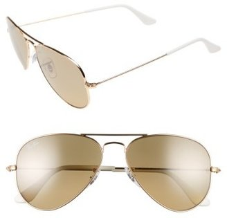 Women's Ray-Ban Small Original 55Mm Aviator Sunglasses - Arista $150 thestylecure.com