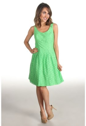 Lilly Pulitzer Posey Dress (New Green Daisy Lane) - Apparel