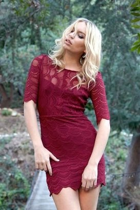 Nightcap Clothing Boatneck Victorian Dress in Red Currant $345 thestylecure.com