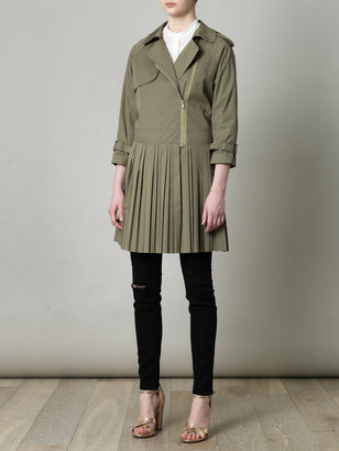 Band Of Outsiders Pleated-skirt trench coat