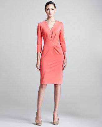 Escada Duoyan Dondi V-Neck Jersey Dress