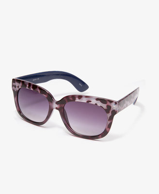 Forever 21 F7105 Animal Print Square Sunglasses