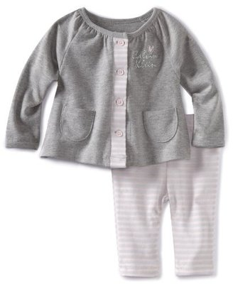 Calvin Klein Baby-Girls Newborn Jacket With Leggings