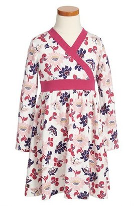 Tea Collection 'Sparkle Butterfly' Faux Wrap Dress (Toddler Girls)