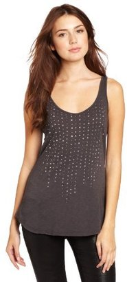 Velvet Women's Storm Slub Tank With Stone Trim Detail