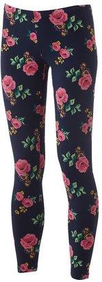 So floral leggings - juniors