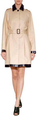 Burberry Cotton Trench Coat with Coated Trim