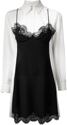 Moschino dress overlay shirt dress