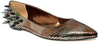 Truth or Dare by Madonna Shoes, Shentel Snake Flats