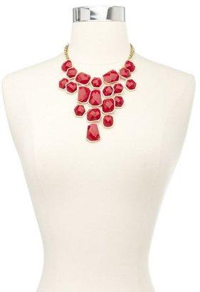 Charlotte Russe Faceted Gemstone Bib Necklace