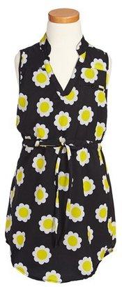 Flowers by Zoe 'Daisy' Drawstring Waist Dress (Big Girls)