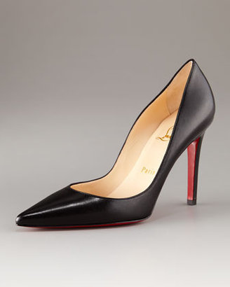 Christian Louboutin Pointed-Toe Black Leather Pump