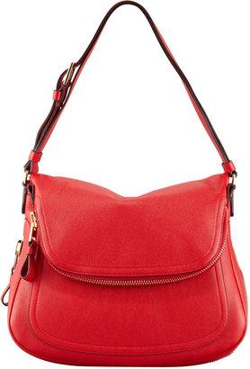 Tom Ford Jennifer Medium Calfskin Shoulder Bag, Flame Red