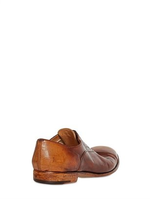 Alberto Fasciani 20mm Hand Brushed Oxford Leather Shoes