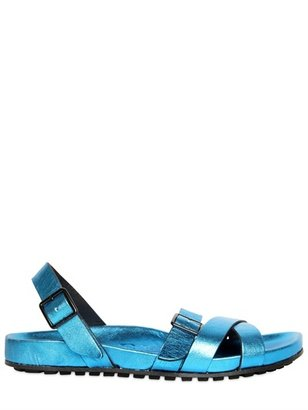 Burberry Laminated Leather Sandals