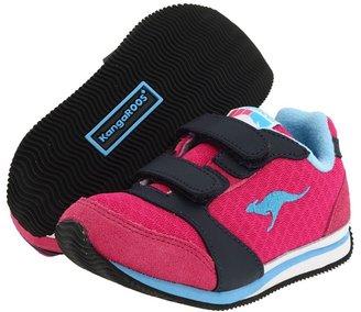 KangaROOS Kids - Edge (Infant/Toddler) (Magenta/Navy/Powder Blue) - Footwear