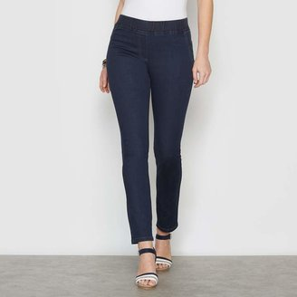 Anne Weyburn Cotton Mix Pull-On Skinny Jeans with Elasticated Waist, Length 30.5""