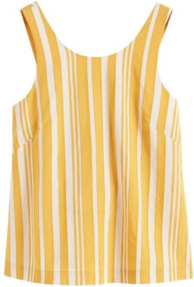 Chinti and Parker Yellow Striped Parasol Tie Back Top
