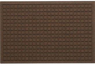 "Crate & Barrel Thirsty Squares® Brown 22""x34"" Mat"