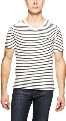 Vince Stripe V-Neck Tee