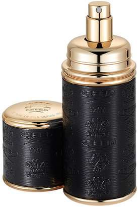 Creed Black with Gold Trim Leather Atomizer