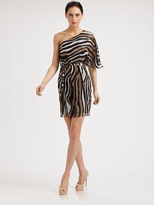 Trina Turk Silk Animal Print Dress