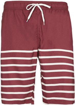 Topman Stripe Board Swim Shorts