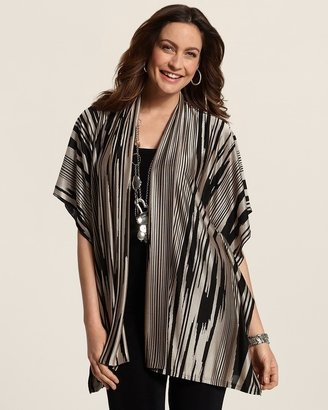 Chico's Travelers Collection Ikat Jacquard Jacket