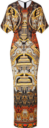 Just Cavalli Printed Jersey Maxi Dress